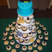 Noah's Ark Cupcake Tower With Fondant Animals