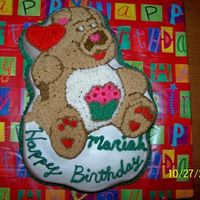 Birthday Cake For Niece  Had some trouble at first. I used the wrong color for the bear body and thought I was going to run out of icing but I got it done. The...