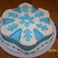 Snowflake Cake Blue and White Snowflake cake. My daughter in law asked me this winter to make a 'winter' cake and I intended to but got busy....
