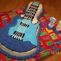 Guitar Cake For Our Youngest Sons 25Th Birthday The icing is Cream Cheese Buttercream. It was harder to work with than with regular Buttercream. The cake is a Scandinavian Pineapple Cream...