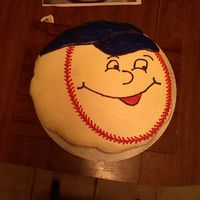 Baseball Cupcake Cake This 20 chocolate cupcakes filled with hostess filling iced to look like a baseball