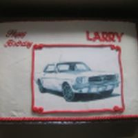 Ford Mustang Cake Edible Image with buttercream icing