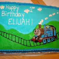 Thomas The Train/tank Birthday Cake   One year old's Thomas the train birthday cake, with smash cake. Got tons of great ideas from CC!!