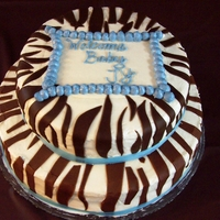 Zebra Boy Baby Shower Cake Made this cake for my sister in laws baby shower...her nursery theme was brown zebra....buttercream w/ fondant stripes