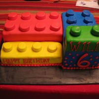 Lego Cake Lego cake covered with marshmallow fondant.