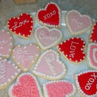 Valentines Cookies   These were sugar cookies with buttercream and some with rolled buttercream.