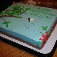 Frog Birthday Cake   Here is another view of the cake from the side. Thank you for the inspiration sonambi!