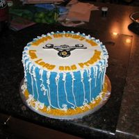 Star Trek Cake  For my hubby, the Star Trek fan. Coloring book photo of USS Enterprise from the 'net, Star Trek font also from the net. Used a desktop...