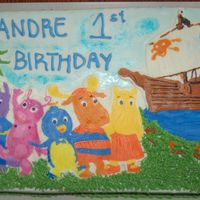 Backyardigans Cake Made this for a friend.First time using FBCT. Enjoyed using this technique.