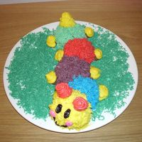 Baby Einstein Tried to make the caterpillar of BabyEnstein. Vanilla and Chocolate cake covered with Buttercream.