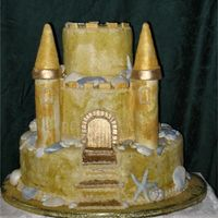 Sand Castle This was an anniversary cake done for a beach party theme.