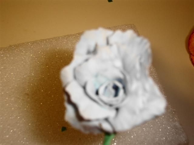 My 3Rd Gumpaste Rose I am self taught and I am soooo excited.