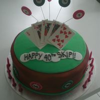 Poker Party Cake