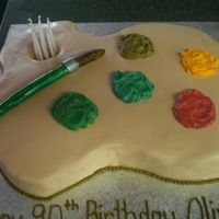 Paint Palette made this for a 90 year olds birthday. She loves to paint so they asked for an earthy paint palette