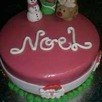 Noel This is a Christmas cake that I made for my nail lady. Mum and I have the smae nail lady and mum mentioned that she had forgotten to get...