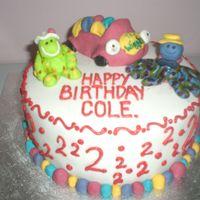 Sons Birthday Cake This is the cake that I threw together for my son to take to school on his second birthday. He loved it. IT was over a month ago now and he...