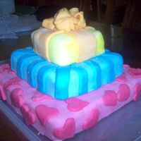 Gifts this was my first attempt at fondant or and real decorated cake. it was all vanilla cake with BC filling and decorations are entirely...