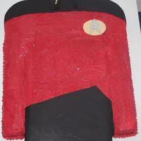 Star Trek Uniform Buttercream icing with fondant accents
