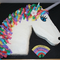 Unicorn Buttercream with Fondant accents
