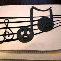 Music Festival This cake was made for a children's music festival at church. Based on characters from a Debbie Brown book. Chocolate cake with bright...