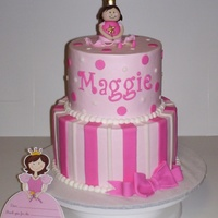 Princess Birthday Cake   matched invites
