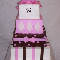 Wedding Cake Pink Brown