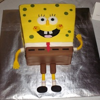 Spongebob Squarepants iced in BC with fondant accents