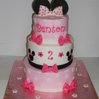 Minnie Mouse Birthday iced in BC with fondant accents