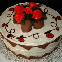 Red Roses Thanks to Sweetgirl as one of her cakes was used as inspiration fro this cake!