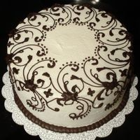 Black And White Cake Inspiried by ThanhThanh.....Thank you!