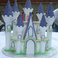 Romantic Castle Birthday Cake