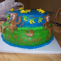 Monkey Cake Buttercream with mmf.