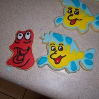 Flounder And Sebastian NFSC with Antonia's royal icing.