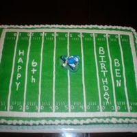 Football Field football field all buttercream