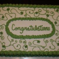 Congratulations this cake was for an office wedding shower,something not really fancy but it got the job done!!