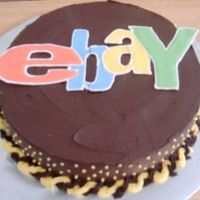 Ebay Addiction My dad is an Ebay addict, so I made him an Ebay cake for Father's Day. The Ebay is colorflow, but I broke it twice. Just made it work...