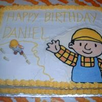 Bob The Builder Cake  My second FBCT...not as happy with this one...the icings ended up being slightly different colors. No one else seemed to notice it, but of...