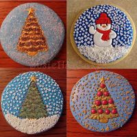 Snowglobe Christmas Cookies These were fun. I love Patchwork cutters and the snowman and the bottom right tree were the first time I used them as I think they were...