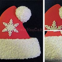 Santa Hat Christmas Cookie This Santa hat and the mittens were super easy. I made the furry accents by flicking out and up with the tip of my Xacto knife on not-too-...