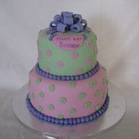 Birthday Polka Dots A 62nd birthday cake...2-tier white cake decorated w/ fondant. TFL!