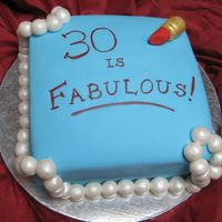 30 Is Fabulous! My 30th Birthday cake. TFL!