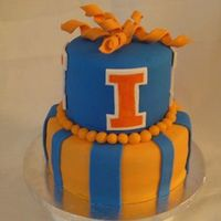 U Of Illinois Birthday Cake Birthday cake for a U of I ulumni. Decorations are made of fondant and gumpaste. TFL!