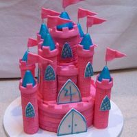 Pink Castle Birthday Cake My daughter's 4th birthday cake. TFL!