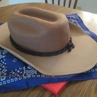 Cowboy Hat My 1st cowboy hat cake. Brim is gumpaste/fondant mix, hat is fondant. Thanks for looking!