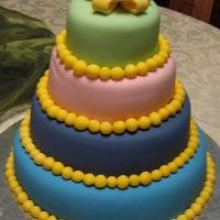 4-Tier Birthday Cake Decorated w/ fondant & gumpaste TFL!