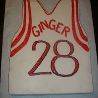 Houston Rockets Jersey Cake