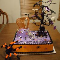 Halloween Cake For a man at my moms work who was born on Halloween