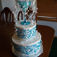 Funny Story I made this cake for a bridal shower dropped it off at the sister of the bride. She loved it , but i got a call a few hours later cuz she...