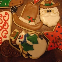 Cowboy Christmas Made these for a business that was having Western theme Chraistmas Party