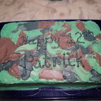 Camouflage Birthday Simple cake I did for my friends son, who is into everything having the do with the military.